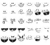 Cartoon Expressions — Stock Vector