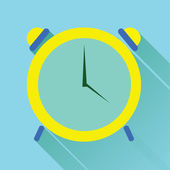Alarm Clock Flat Icon — Stock Vector