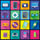 Gadget Flat Icons — Stock Vector