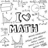 I Love Math — Stock Vector