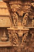 Dekorativa carving jain tempel, jaisalmer, indien — Stockfoto