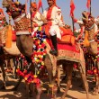Camel procession at Desert Festival, Jaisalmer, India — Stock Photo #55028267
