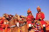 Camel procession at Desert Festival, Jaisalmer, India — Stock Photo