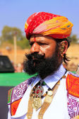 Portrait of indian man taking part in Mr Desert competition, Jai — Stock Photo
