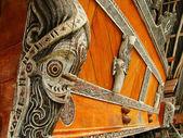 Traditional decoration of Batak house on Samosir island, Sumatra — Stock Photo