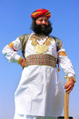 Indian man in traditional dress taking part in Mr Desert competi — Stock Photo