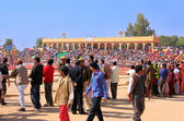 People walking around Desert Festival grounds, Jaisalmer, India — Stock Photo