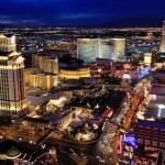 Aerial view of Las Vagas strip at night, Nevada — Stock Photo #64641799