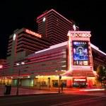 Постер, плакат: Eldorado hotel and casino at night in Reno Nevada