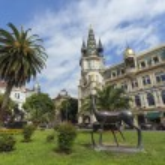 Europe square in the center of Batumi — Stock Photo #79484562
