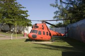 Helicopter at Arecibo Lighthouse and Historical Park — Stock Photo