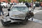 Car wreck in Queens New York — Stock Photo