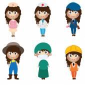 Career kids character — Wektor stockowy