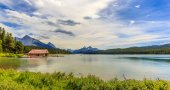 Maligne Lake Boathouse — Stock Photo