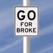 Go For Broke — Stock Photo