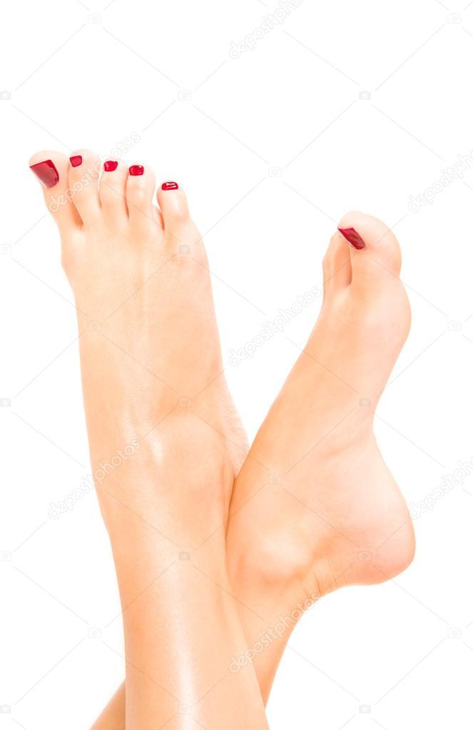 Женские ножки с сексуальным педикюром в хорошем качестве фотоография