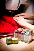 Sewing process — Stock Photo