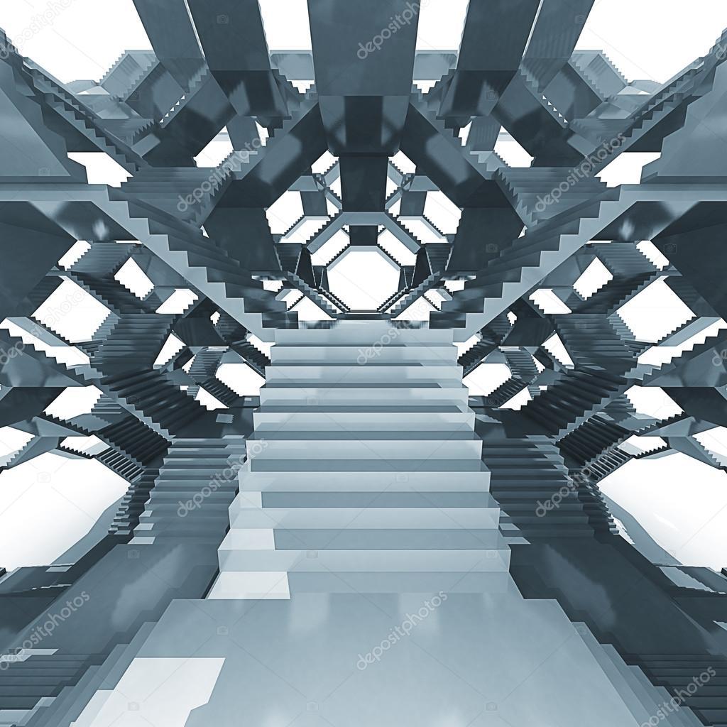 futuristische treppe architektur struktur zusammensetzung stockfoto adikk 51939107. Black Bedroom Furniture Sets. Home Design Ideas