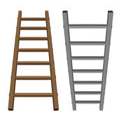 Isolated ladder object tool wooden and metallic one — Vector de stock