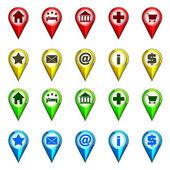 Destination icon navigation collection vector  — Stock Vector