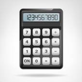 Small round black calculator object isolated — Wektor stockowy
