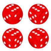Round red dice object set isolated — Vettoriale Stock