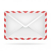 Closed envelope object perspective view isolated — Stock Vector