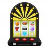Gambling on black play machine object — Stock Vector