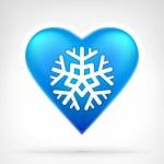 I love winter concept as snowflake — Stock Vector #63529727