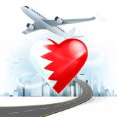 Travel concept with Bahrain flag — Stock Vector