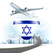 Travel concept with Israel flag — Stock Vector