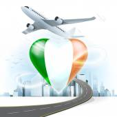Travel concept with Ireland flag — Stock Vector