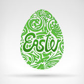 Easter egg with graphics design — Stock Vector