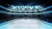 Hockey stadium with spectators — Stock Photo