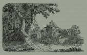 Ilustração de aldeia — Foto Stock
