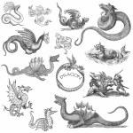 Dragon  set illustration — Stock Photo #53992437