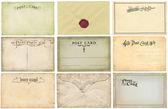 Vintage postcards set — Stock Photo