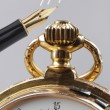 Vintage golden pocket watch — 图库照片 #63716065