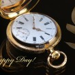 Vintage golden pocket watch — Stockfoto #63716081