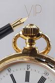 Vintage golden pocket watch — Stock Photo