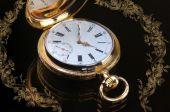 Vintage altın cep saati — Stok fotoğraf
