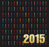 Happy new year 2015 creative greeting card — Stock Photo