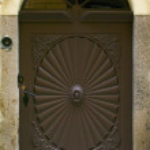 Old door in Prague — Stock Photo #76679907