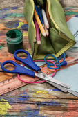 Accessories schoolboy — Stock Photo