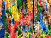 Background flecked with colored inks wooden boards — Stock Photo