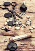 Garment accessories in vintage style — Stock Photo