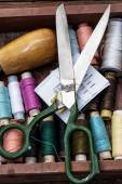 Threads of different types,colors — Stock Photo