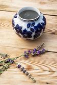 Lavender with vase — Stock Photo