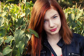 Charming girl teen with red hair — Foto de Stock