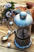Tea ceremony and sweets — Stock Photo